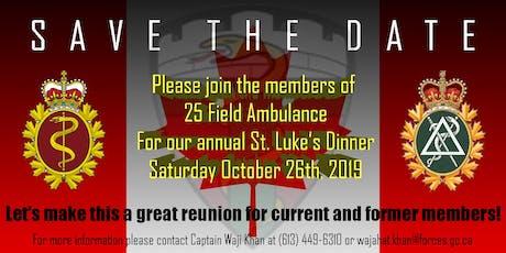 25 (Toronto) Field Ambulance St. Luke's Mess Dinner tickets