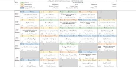 Oficinas Pedagógicas de Francês Grátis [semana 16-09-2019] todos os níveis ingressos