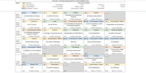 Oficinas Pedagógicas de Francês Grátis [semana 16-09-2019] todos os níveis