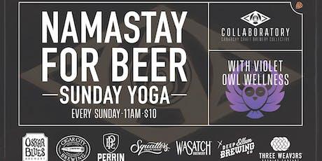Namastay for Beer Sunday Yoga tickets