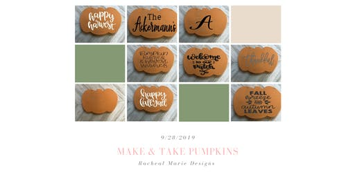 Make & Take Wood Pumpkin