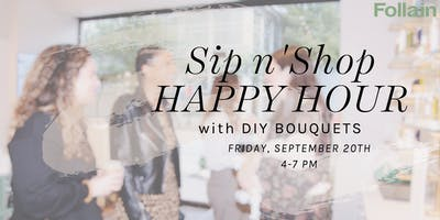 Sip n' Shop + DIY Bouquets with Follain Beacon Hill