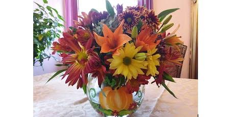 Floral Design Workshop at Kingsland Manor: Autumn Vase and Arrangment tickets