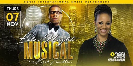 COGIC International Music Department Late Night Musical with Kirk Franklin