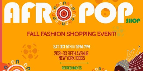 AFROPOP SHOP- FALL SHOPPING EVENT tickets