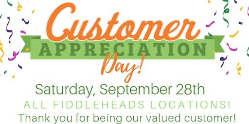 Customer Appreciation Day with Fiddleheads Health and Nutrition