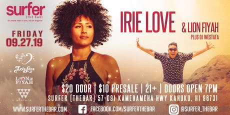 Irie Love with Lion Fiyah tickets