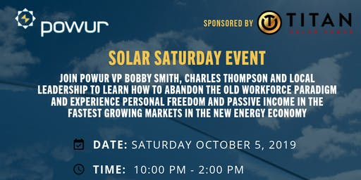 SOLAR SATURDAY TRAINING EVENT
