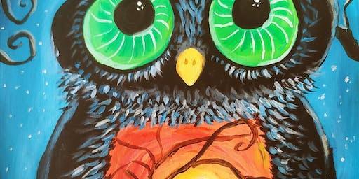 Paint & Sip - Halloween Owl