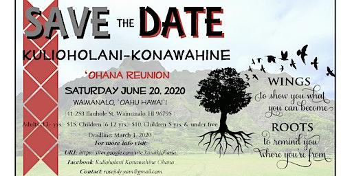 Kulioholani-Konawahine Reunion 2020