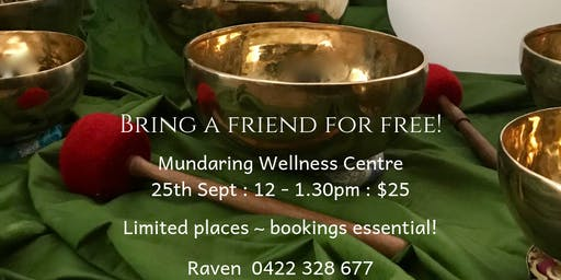 Group Sound Healing Session - Bring a friend for FREE!