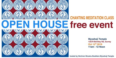 Open House of Myoshoji Temple Chanting Meditation tickets
