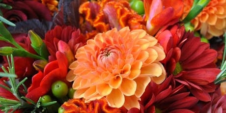 Autumn wedding bouquet tickets