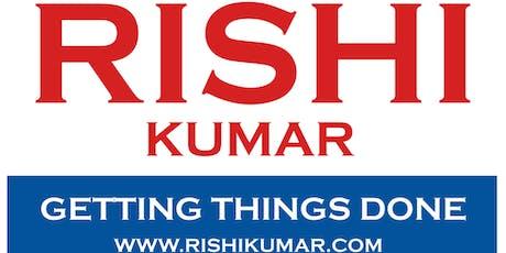 Atiq Raza and Nandini Saraiya invite you to our home to meet RIshi Kumar tickets