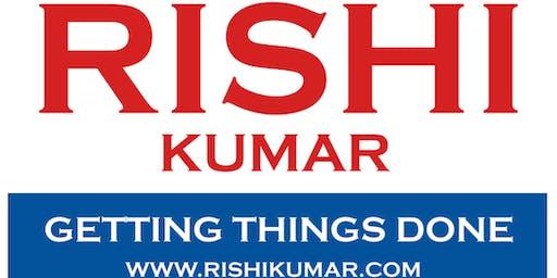 Atiq Raza and Nandini Saraiya invite you to our home to meet Rishi Kumar