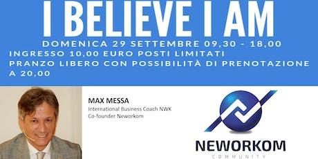 FORMAZIONE DI CRESCITA PERSONALE - I BELIEVE, I AM - Area Nord Est biglietti