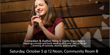 Author/Comedian Visits the Library tickets