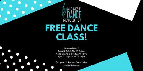 Free Dance Class Ages 7-11 tickets