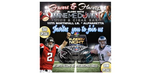 Sunday Night Football!!!  at Wine Me Down: Sept.15th @8pm