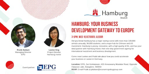 Hamburg: Your business development gateway to Europe