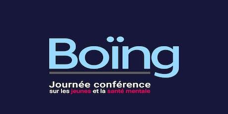 Boïng - Journée conférence JEUNES et SANTÉ MENTALE *EN SALLE* billets