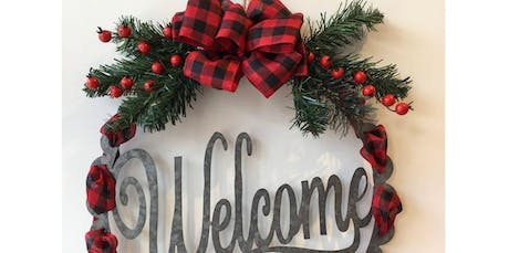 Welcome Decor Hanger - Red Check  (2019-11-30 starts at 2:00 PM) tickets