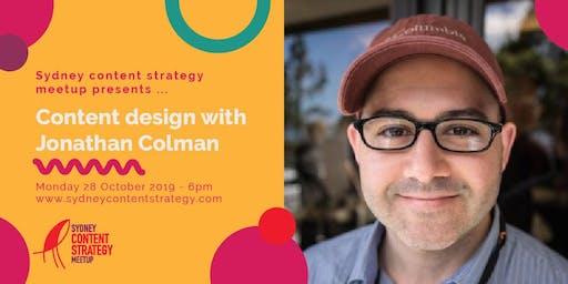 Sydney content strategy meet up - October 2019