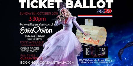 OGAE Australia's Ticket Ballot 2020 tickets