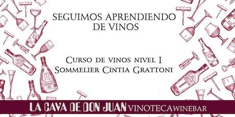Curso de Vinos - Nivel 1 entradas