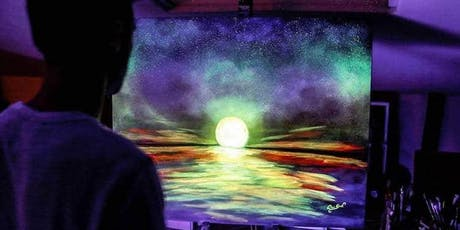 Glow in the dark canvas or pottery painting in Oakville tickets