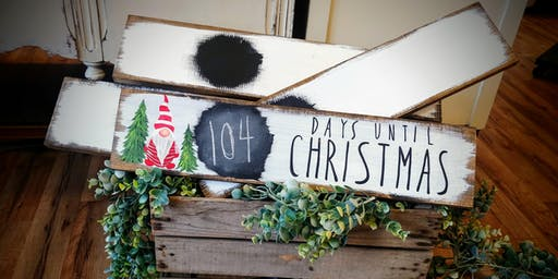 SOLD OUT - Christmas Countdown Chalkboard Paint Night