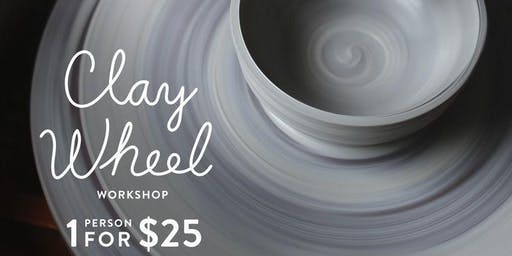 Mini Clay wheel workshop in Ellicottville
