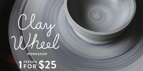 Mini Clay wheel workshop in Olean tickets