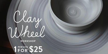 Mini Clay wheel workshop in Olean tickets