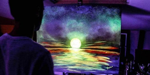 Glow in the dark canvas or pottery painting in Olean