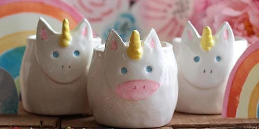 Make a unicorn planter in Olean