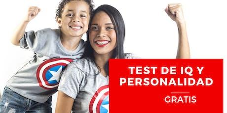Prueba de IQ y Personalidad Gratis tickets