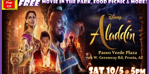 A Magically Spooky Peoria Food Truck Movie Night & MORE - Sat 10/5-Aladdin!