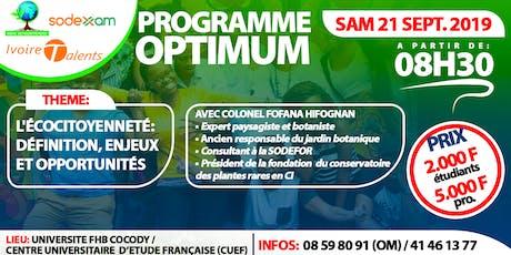 """Programme OPTIMUM: """"L'écocitoyenneté: définition,  enjeux et opportunités"""" tickets"""
