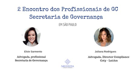 Encontro dos Profissionais de Governança - Secretaria de Governança Corporativa ingressos