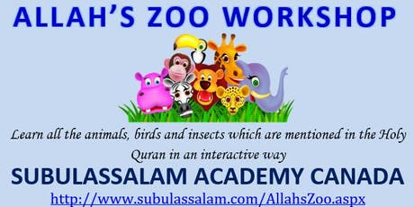 Allah's Zoo Workshop tickets