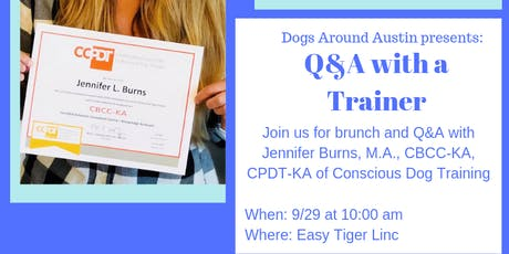 Dogs Around Austin presents: Q&A with a Trainer tickets