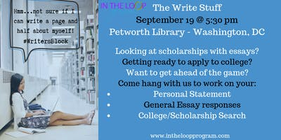 The Write Stuff - College Applications and Scholarships