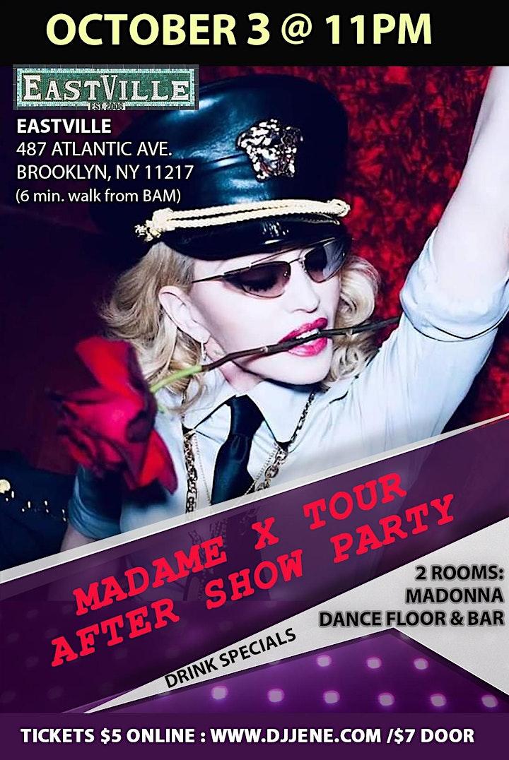 Madonna Madame X Tour After Show Dance Floor Party Oct 3 @ EastVille 11pm image