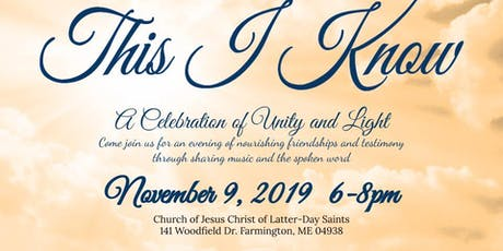 This I Know: A Celebration of Unity and Light tickets