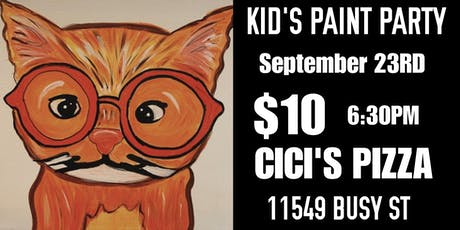 Kid's Pizza & Paint tickets