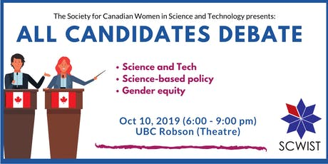 Science & tech, science-based policy and gender equity tickets
