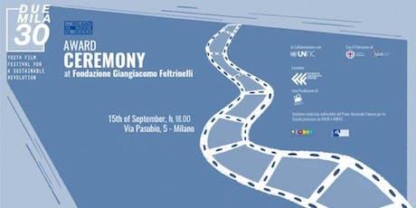 Cerimonia conclusiva di Duemila30 – Youth Film Festival for a Sustainable Revolution  biglietti