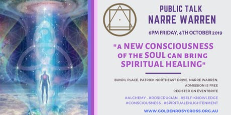 Public Talk: A New 'Soul'-Consciousness can bring Spiritual Healing! tickets