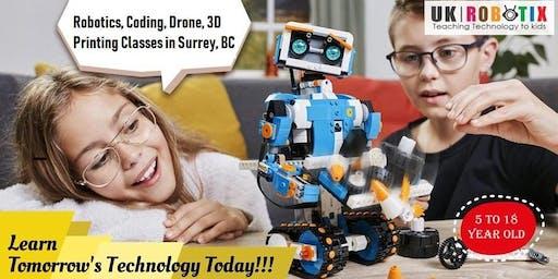 Robotics/Programming/STEM classes for Kids in Surrey, BC (Ages 5-18)